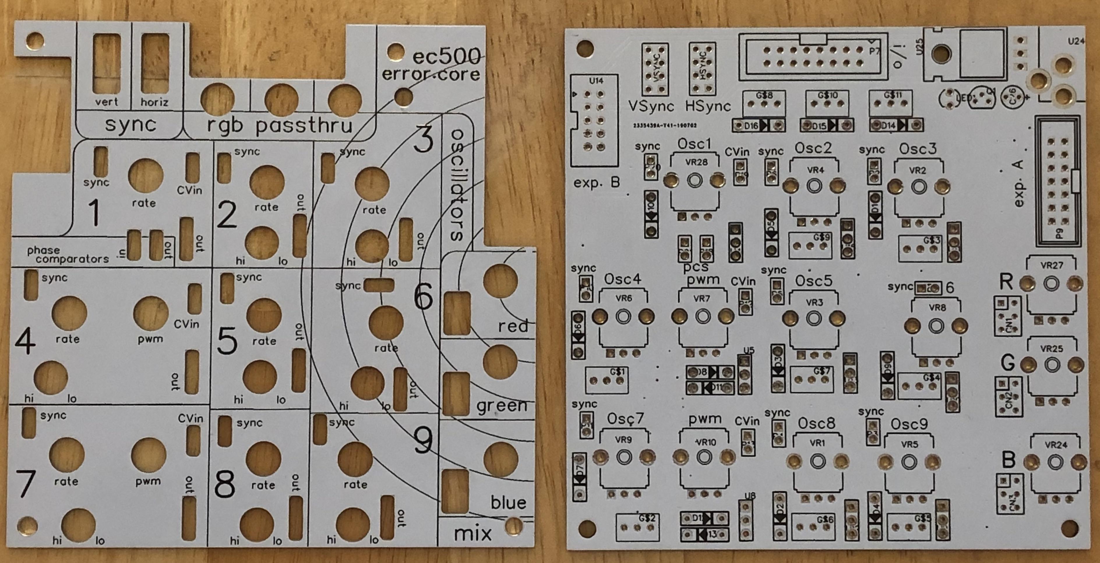 ec500 error.core PCB + Panel set