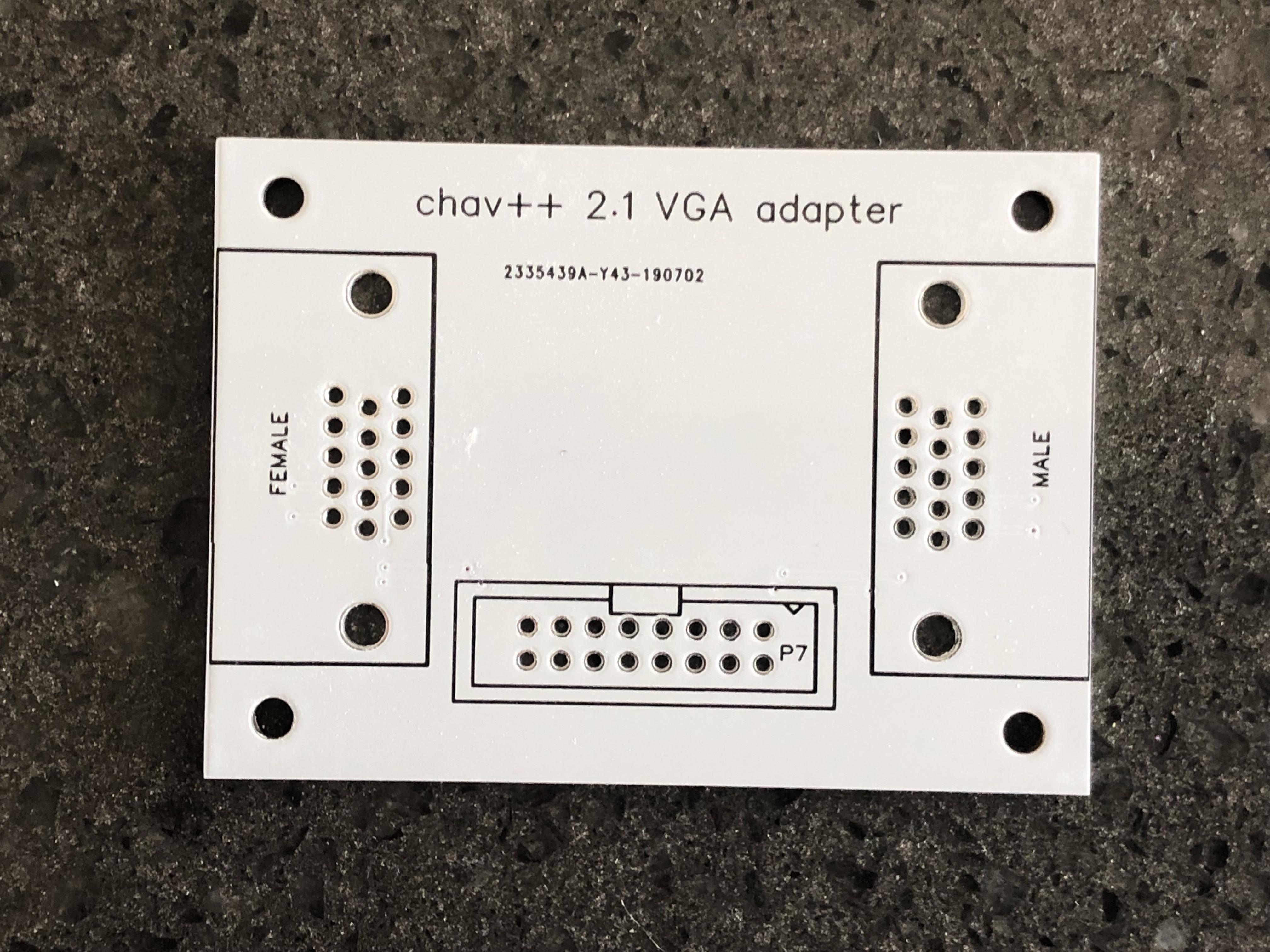 ec500 VGA adapter PCB